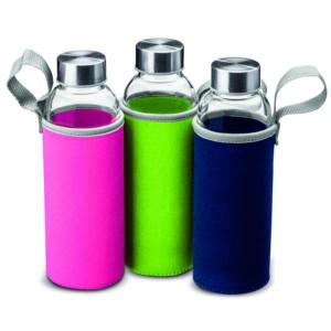 Botella cristal c/infusor 420 ml.